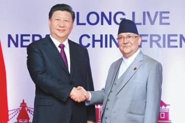 习大大同尼泊尔总理奥利会谈