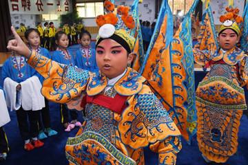 青岛:京剧进校园 国粹有传承