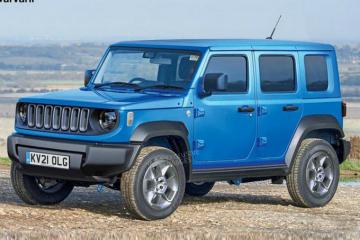 Jeep全新小型SUV渲染圖 搭1.3T引擎造型夠硬派