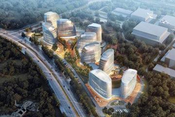 打造VR新高地 青岛国际虚拟现实产业园9栋单体封顶