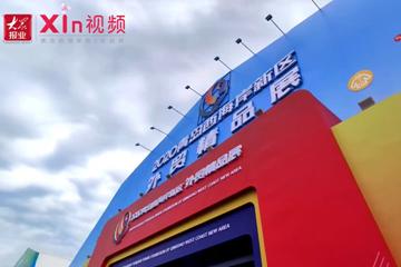 Xin视频|200余种产品在金沙滩啤酒城展销
