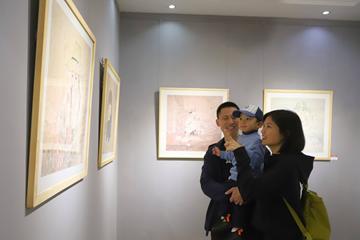 正本清源——山東省工筆畫學會五人展在新區開幕