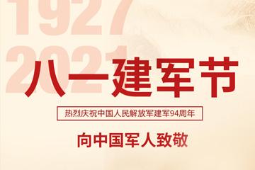 海报 八一建军节,向中国军人致敬!