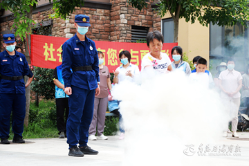 珠海街道:开展消防演练 提高应急能力