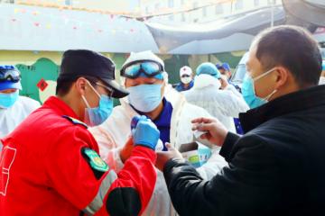 西海岸新區社會組織:捐贈物資 助力疫情防控