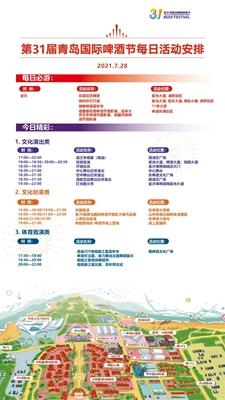 第31届青岛国际啤酒节每日活动安排(7.28-7.31)